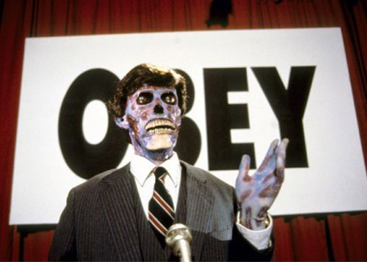 "[O][S] ""Obey"" - film, movies, people, They Live, 1988 ..."