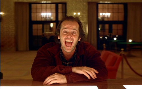 "Jack Nicholdson in ""The Shining"""