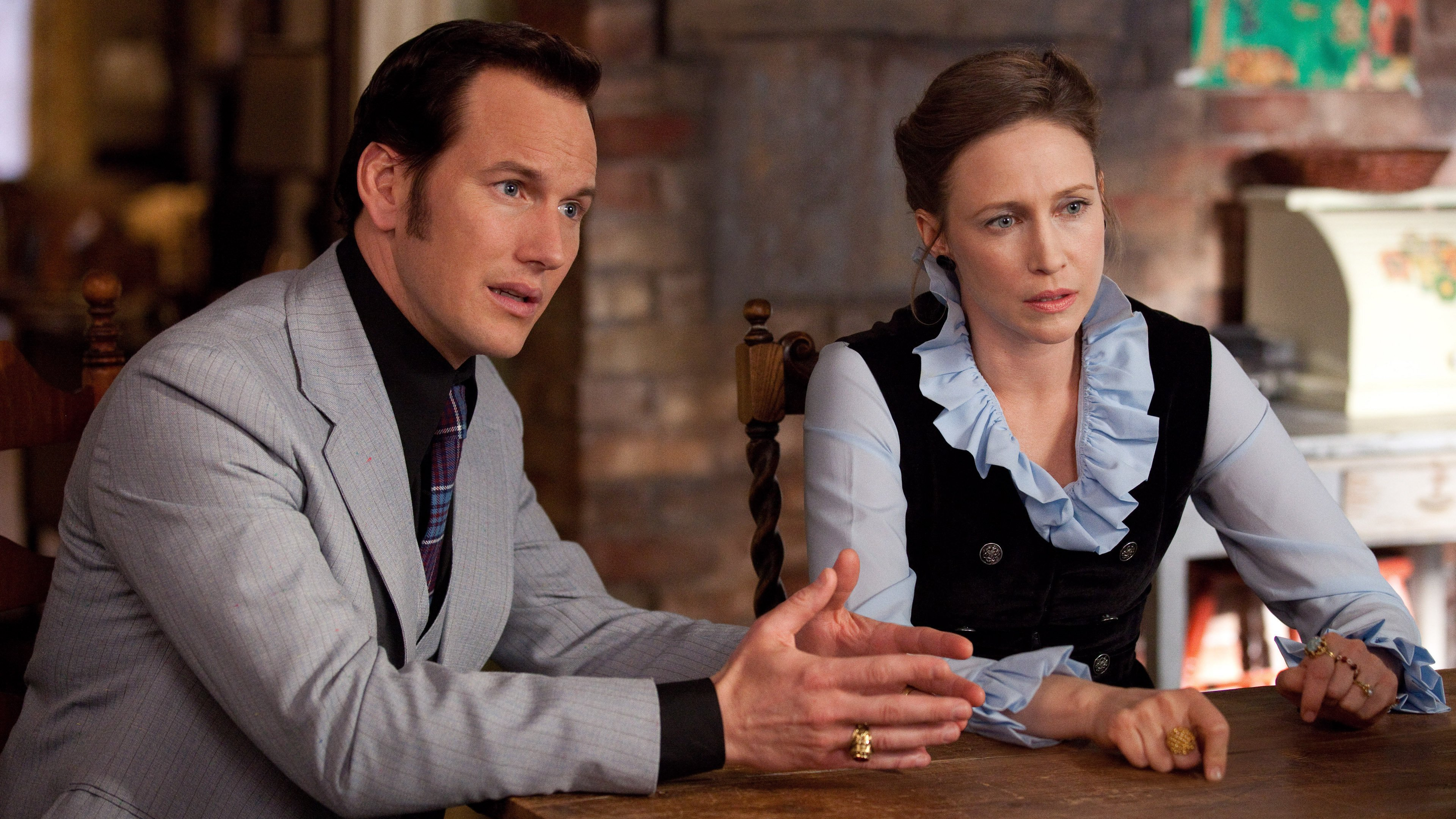 """Patrick Wilson and Vera Farmiga looked concerned in """"The Conjuring"""""""