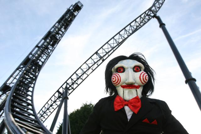 So as Eric reported last week the Saw ride at UK's Thorpe Park