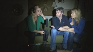 A tormented couple teams with a paranormal investigator in The Dark Tapes