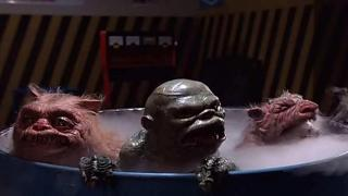 The monsters from Ghoulies lurking