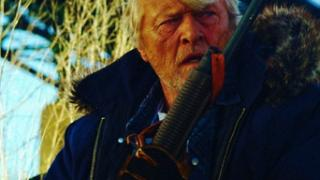 Rutget Hauer is the Hobo, in Hobo With a Shotgun
