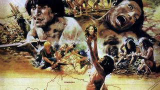 Promotional art depicting the cannibal tribes of Cannibal Holocaust
