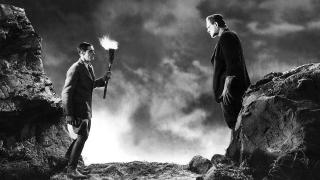 Showdown between Henry Frankenstein and his monster
