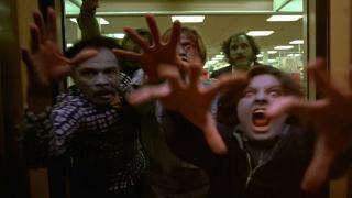 Zombies attack in Romero's Dawn of the Dead (1978)